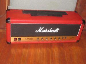 Ampli Marshall JCM800 100 watts red tolex...rare...échange