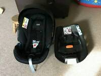 Two week old car seat and isofix base