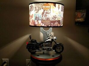 Harley Davidson Table Lamp with Sound