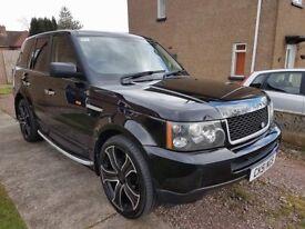 Stunning 2007 Range Rover Sport diesel in Java black with black leather interior.
