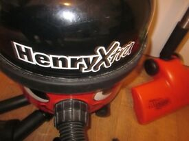 Henry X-tra vacuum cleaner with accessories