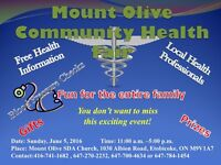 MOUNT OLIVE COMMUNITY HEALTH FAIR