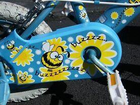 """Girls 'Honey Bee' 10"""" bike with matching helmet"""
