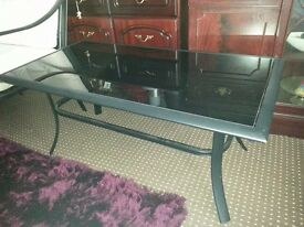cheaper 20.00 COFFEE TABLE , BLACK GLASS