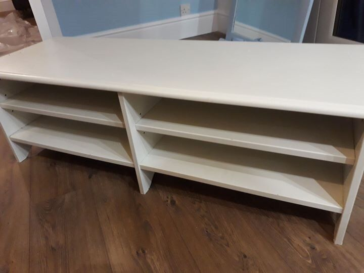 White low TV unit for sale