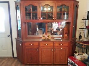 real oak wood china cabinet for sale