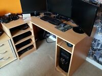 Gaming computer desk and chair