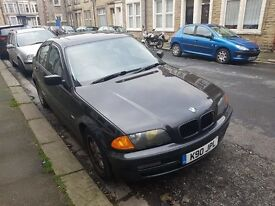 BLACK BMW 325 AUTO LOW MILEAGE AND PRIVATE PLATE