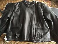Ladies JTS leather motorbike jacket.