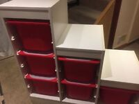 Trofast Storage Unit and boxes with lid
