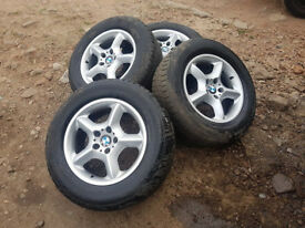 """BMW X5 17"""" ALLOYS WITH WINTER TYRES"""