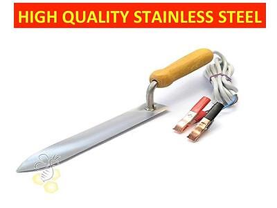Electric Honey Uncapping Knife Stainless Steel Hot Knife Beekeeping Tool 12 V Us