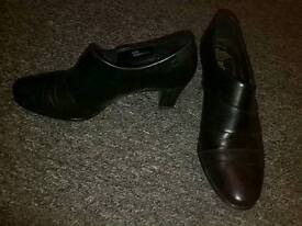 Black Slip - On Shoes from Jana Heel height 5.5cm approx Size 39 Exeter