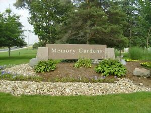 Memory Gardens Breslau 2 plots, 2 vaults and 2 interment fees