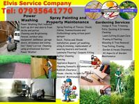 POWER WASHING/ SPRAY PAINTING/ GARDENING SERVICES incl: Tree Felling/ SHEDS AND DECKS BUILDING