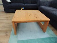 Reduced - solid pine table square - by habitat