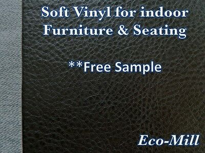 - Synthetic Leather Vinyl Upholstery Fabric Austin Black Soft Hand Feel 54