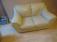2 + 3 Seater Cream Sofa ( Matching Pair )