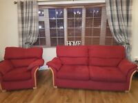 3-1-1 Red Fabric Suite of furniture. Very Comfortable