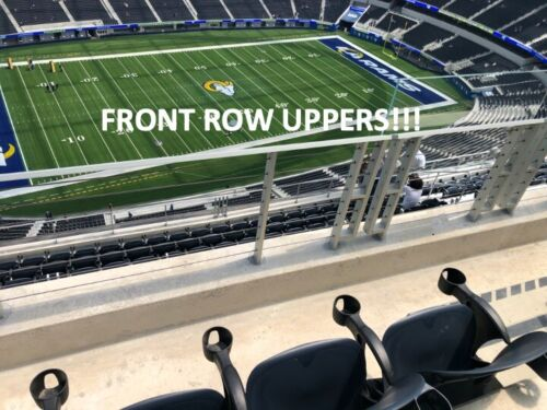 2 TIX LOS ANGELES RAMS First Preseason Game 2021 - FRONT ROW UPPERS-AISLE SEATS!