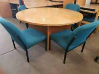 Round meeting table and 4 chairs only £60