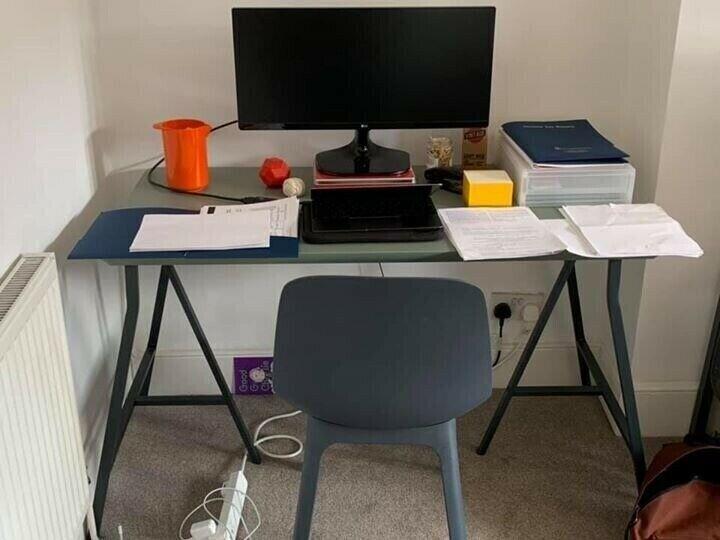 Desk - Trestle table legs & top - from Ikea   in Dulwich, London   Gumtree