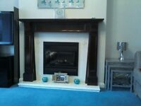 fireplace surround - mahogany colour