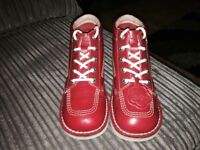 Adults red kickers nearly brand new