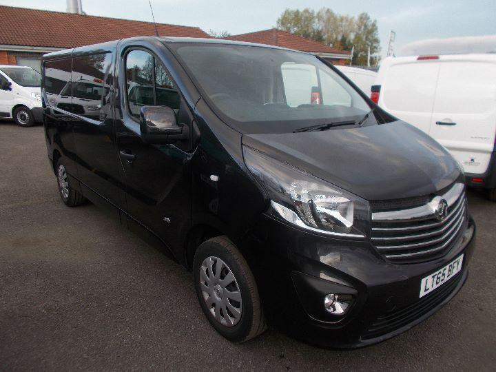 Vauxhall Vivaro 2900 1.6Cdti 115Ps Sportive H1 Van DIESEL MANUAL BLACK (2015)