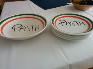 Pasta bowl and plates