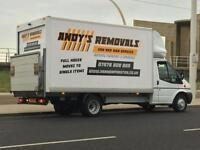 ANDYS REMOVALS MAN AND VAN SERVICE.07475619937..LARGE LUTON WITH TAIL LIFT