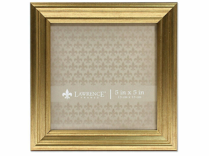 5x5 Sutter Burnished Gold Picture Photo Frame Tabletop Displ