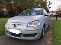 09 VW Polo 1.4 TDi Bluemotion 2, 5 Door Metallic Silver, 103,000 miles Full VW History, Free Tax.