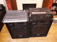 PA System for Sale including Yamaha Mixing Desk & Peavey Amp