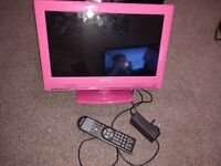 "15.6"" PINK LED TV/DVD COMBO"
