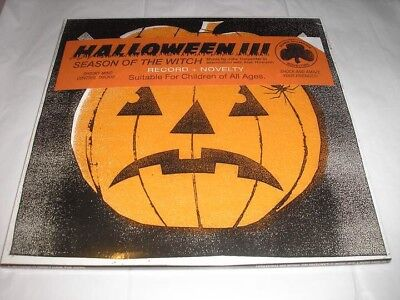 on Mask (Cloudy Clear and Black color-in-color) Vinyl. New (Halloween Iii Vinyl)