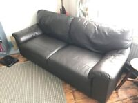SOLD - NEXT Leather Sofa