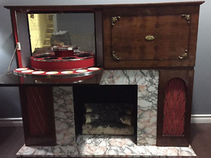 Vintage Fireplace Display Centre