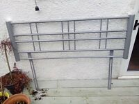 Metal double bed head frame