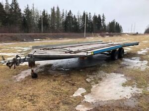 2003, 24 Foot four place Sled Trailer