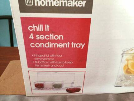 BRAND NEW IN BOX-HOMEMAKER ICE CHILL IT 4 SECTION CONDIMENT TRAY