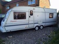 Bailey senator 1998 4 berth twin axle. Has air con,heating, hook up cable ,on board water tank