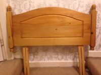 Single Headboard - Light Wood - excellent condition
