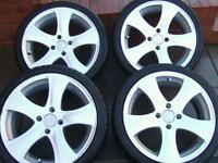 4x Alloy wheel with tyres