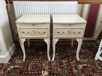 2 stunning French Louis Rococo Style Bedside Tables