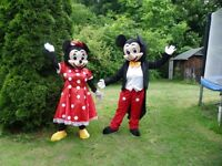 Mickey and Minnie Mascot costumes - Adult size