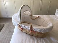 Mothercare - Unisex Moses Basket - great condition
