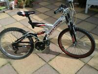 Rhino mountain bike 24 inch wheels 17inch fame sort teenage to small adults