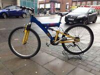 "Used 24"" wheel size fully suspension bike"
