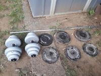 Gym Dumbbells, weights disc 130kg